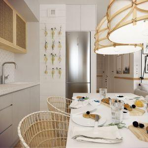 Niebanalny pomysł na kuchnię i jadalnię. Projekt wnętrza: Weronika Messyasz, Messyasz Design Lab