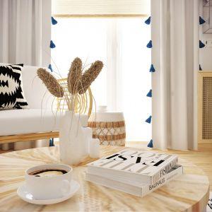 Wnętrze urządzono w bielach i beżach. Projekt wnętrza: Weronika Messyasz, Messyasz Design Lab