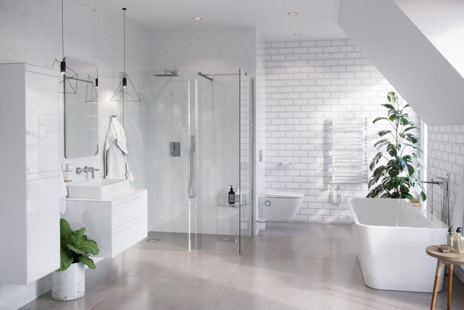 Grzejnik łazienkowy Horos 96, biały soft Fot. Excellent