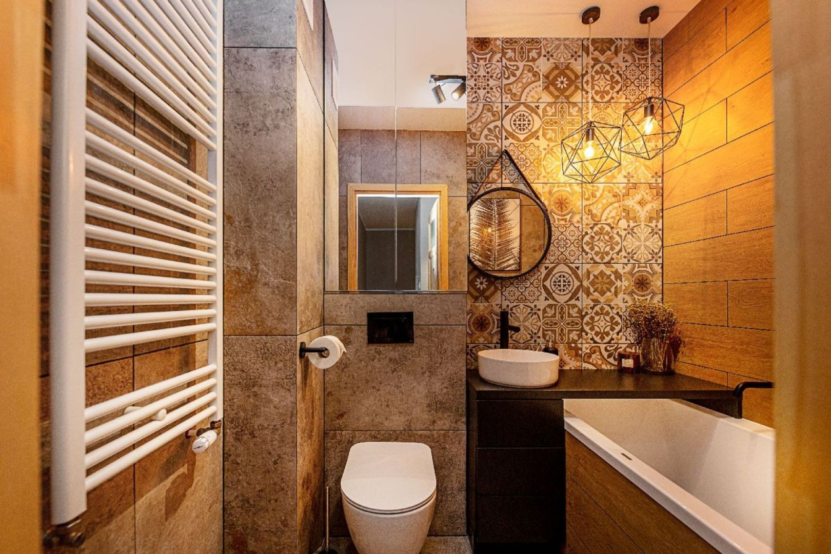 Pomysł na nowoczesną łazienkę. Projekt i zdjęcia: Sandra Białkowska, Studio Dobry Układ