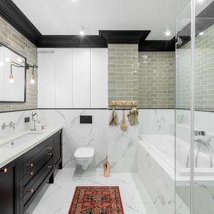 Pomysł na nowoczesną łazienkę. Projekt: Finchstudio. Fot. Aleksandra Dermont Ayuko Studio