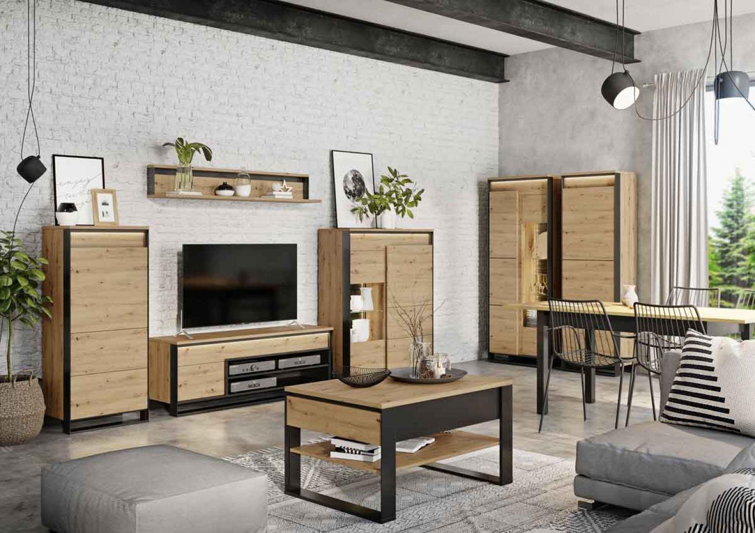 Meble do salonu z kolekcji Quant dostępne ofercie firmy Dignet Lenart. Fot. Dignet Lenart