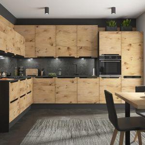 Kuchnia w stylu nowoczesnym, inspirowana naturaą. Propozycja kuchni na wymiar. Fot. BRW