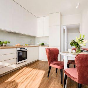Mała kuchnia w bieli. Projekt Joanna Nawrocka. Fot. Łukasz Bera