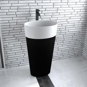 Na zdjęciu: nablatowa umywalka Uniqua B&W marki Besco. Fot. Besco