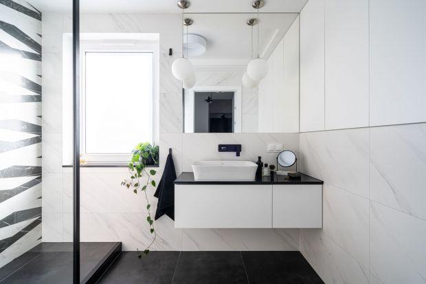 Łazienka black&white: świetne rozwiązania w czerni i bieli. Dużo zdjęć!