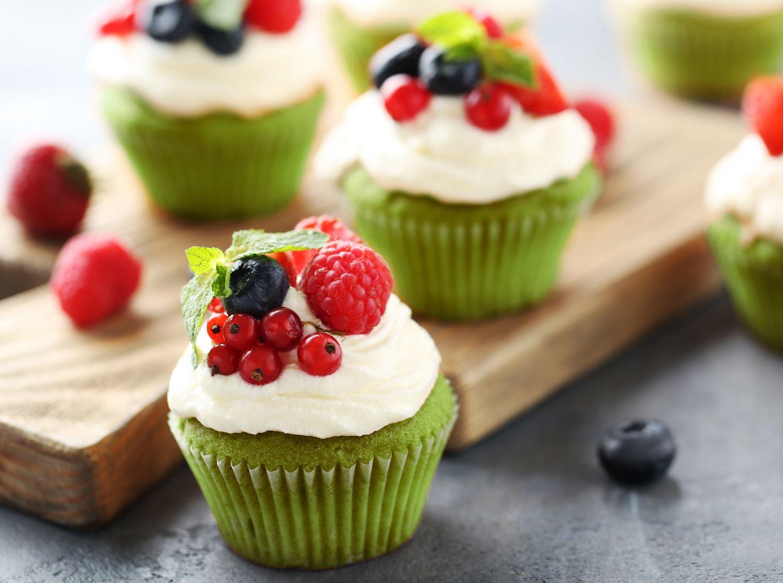 Szpinakowe muffiny na słodko. Fot. Eisberg
