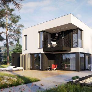Projekt domu: EX 2 G1 Energo Plus Projekt. Autorzy projektu: pracowania Archipelag