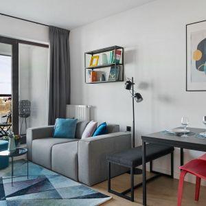Mały salon jest jasny i nowoczesny. Projekt i zdjęcia: Decoroom