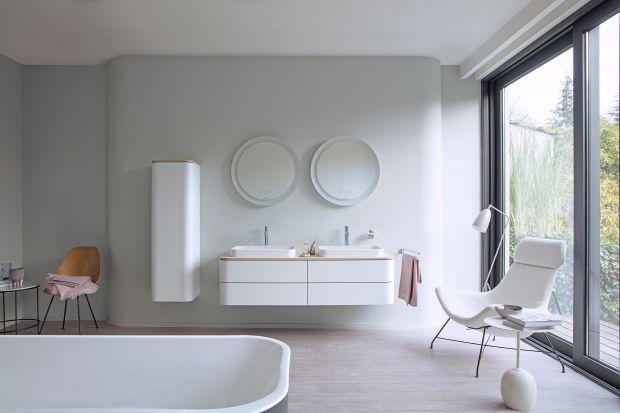 Meble łazienkowe z matowymi powierzchniami