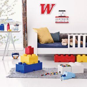 Pojemnik w kształcie klocków Lego, które można składać jeden na drugim, nie zajmują dużo miejsca, a są bardzo pojemne. Fot. Bonami