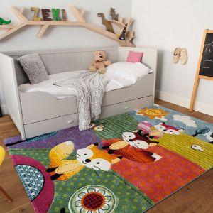 Dziecięcy dywan Diamond Fox wniesie radość i energię do pokoju dziecka, dzięki wyrazistej gamie barw. Fot. Sklepy  Komfort