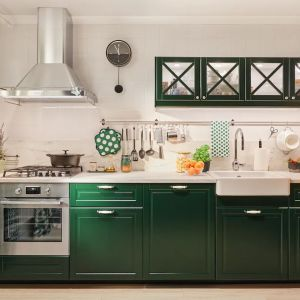 Meble do małe kuchni: wykończenie frontów Bodbyn. Dostępne w IKEA. Fot. IKEA