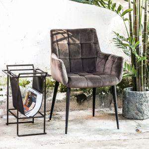 Krzesło Flair w kolorze popielatym firmy PTMD Collection dostępne w ofercie sklep.zielonafabryka.pl. Fot. Zielona Fabryka