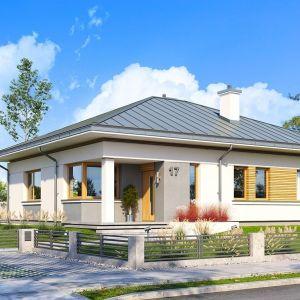 Dom jest energooszczędny, ma bardzo dobre izolacje i zastosowane nowoczesne instalacje, dzięki czemu będzie tani w eksploatacji. Projekt: arch. Michał Gąsiorowski. Fot. MG Projekt