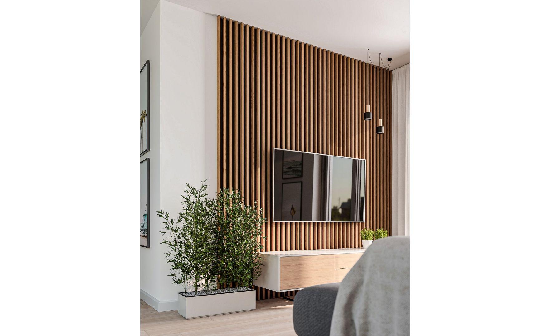 Modułowy system lameli ściennych Kalithea to doskonała dekoracja, którą montuje się szybko i łatwo w każdym pomieszczeniu. Fot. Kalithea