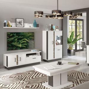 Białe meble do salonu z kolekcji Marco dostępne w ofercie Salonów Agata. Fot. Salony Agata