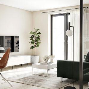 Białe meble do salonu: komoda z kolekcji Fermo dostępna w ofercie firmy BoConcept. fot. BoConcept