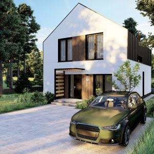 Gotowe domy ze stali trudno z zewnątrz odróżnić od projektów domów tradycyjnych, ponieważ ich sposób wykończenia może być taki sam jak w przypadku domów murowanych czy domów stawianych ze szkieletu drewnianego. Fot. Stalovers