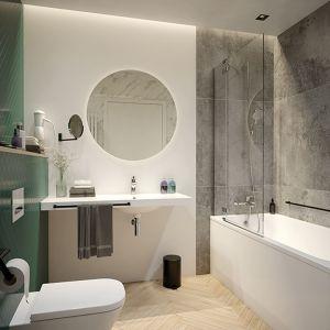 W małej łazience najlepiej sprawdzą się jasne kolory i barwy ziemi. Fot. Sanplast