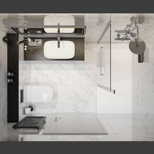 Mała łazienka - pomysł na aranżację małej łazienki. Fot. Sanplast