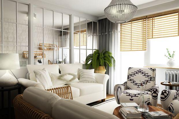 63-metrowe wnętrzeto odzwierciedlenie upodobań inwestorów do naturalnych materiałów oraz delikatnych kolorów ziemi. Za projekt odpowiadała Weronika Messyasz, architektka z pracowni Messyasz Design Lab.