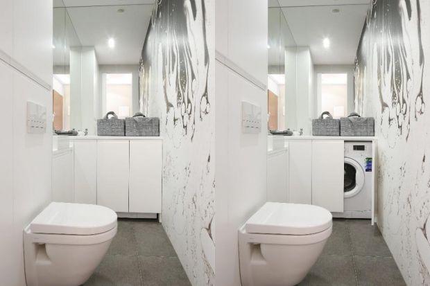 Pralka w łazience. Jak ją ukryć? 7 dobrych rozwiązań z projektów architektów