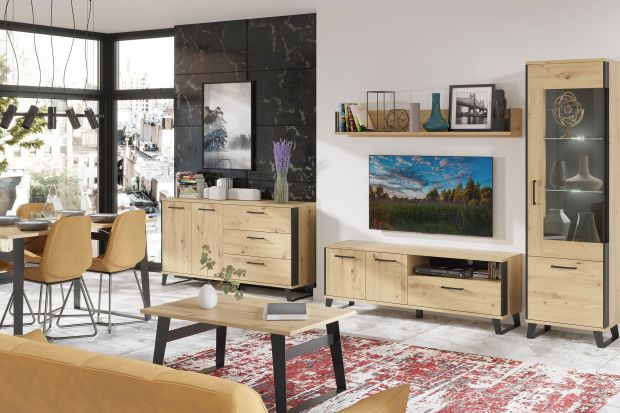 Meble w kolorze drewna to świetny wybór do salonu. Są modne i piękne. Sprawdzą się w nowoczesnej aranżacji salonu oraz aranżacji w stylu klasycznym. Zobacz!