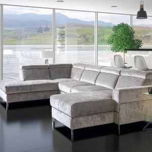 Modułowa kolekcja Ulises. Wysoki komfort użytkowania uzyskano dzięki zastosowaniu podwójnego sprężynowania w siedziskach. Producent: Libro