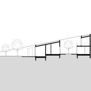 Przekrój. Projekt: Adrian Kasperski Architekt