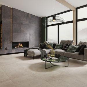 Płytki z kolekcji Desertdust to wyjątkowe połączenie naturalnych barw zamkniętych w surowym betonie. Dostępne w ofercie firmy Ceramika Paradyż. Fot. Ceramika Paradyż