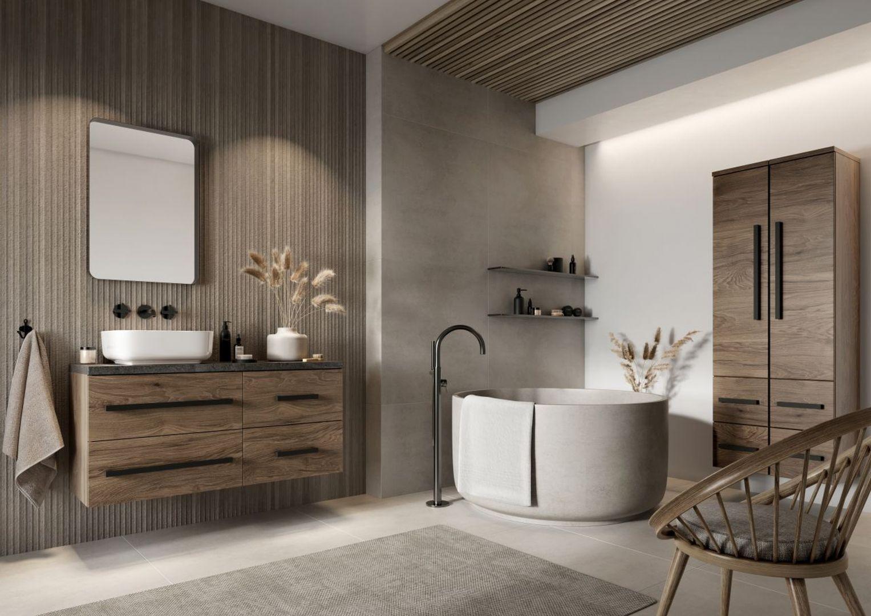 Remont łazienki w duchu less waste, czyli jak odmienić wnętrze w zgodzie z naturą. Na zdj. Defra kolekcja Granada