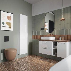 Remont łazienki w duchu less waste, czyli jak odmienić wnętrze w zgodzie z naturą. Na zdj. Defra kolekcja Flou