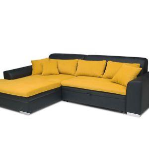 Połączenie koloru żółtego i czerni sprawia, że sofa wygląda pięknie. Fot. Stagra Meble