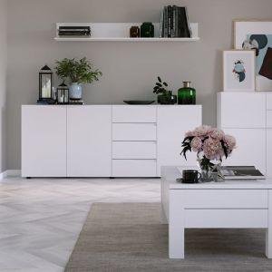 Kolekcja Lucca to nowoczesne, minimalistyczne meble w uniwersalnym białym kolorze. Producent: Szynaka