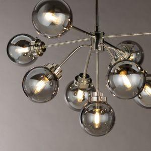 Piękna i dekoracyjna lampa - przydymione kule wyrastają niczym kiść owoców. Idealny pomysł do salonu w nowoczesnym lub loftowym stylu. Producent: Distinctive Lighting