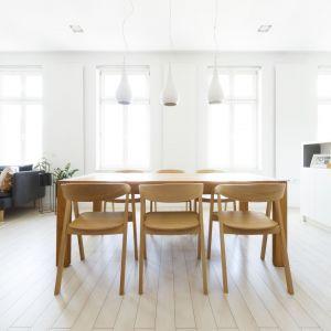 W mieszkaniu dominuje prostota, dzięki czemu wnętrze jest nowoczesne i konsekwentne. Projekt: Paulina Kostyra-Dzierżęga. Fot. Barbara Adamek