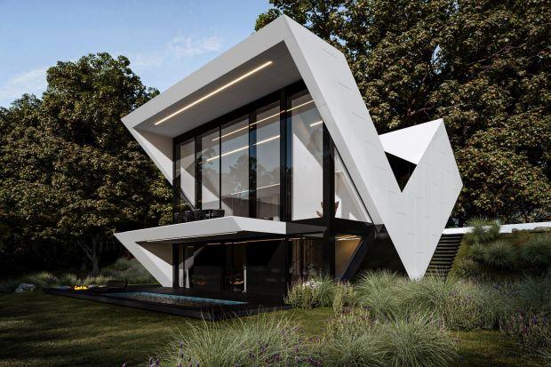 Ten dom został zaprojektowany na bardzo trudną działkę - skośną, z ośmiometrowym spadkiem. Architekt Marcin Tomaszewski stworzył projekt bryły, która doskonale się na niej sprawdzi.