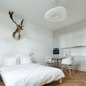 Jak urządzić kawalerkę. Pomysł 5: Jasne, otwarte wnętrze.  Mieszkanie o powierzchni 27 m2 zostało utrzymane w konwencji przytulnego minimalizmu. Projekt: Karol Ciepliński, Blackhaus. Fot. Bartłomiej Senkowski