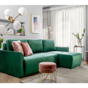 Zielony narożnik w salonie z kolekcji Arbon dostępna w ofercie Black Red White. Fot. Black Red White