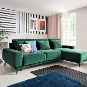 Zielony narożnik w salonie z kolekcji Veneto dostępna w ofercie firmy Sweet Sit. Fot. Sweet Sit