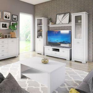 Meble do salonu: kolekcja Agnes  to biały kolor i klasyczna forma. Sprzedaż: Salony Agata