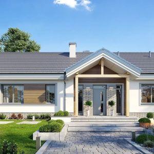 Projekt domu Willa Rodzinna to wygodny parterowy dom dla 4-5 osobowej rodziny, z czterema sypialniami. Projekt: arch. Michał Gąsiorowski. Fot. MG Projekt