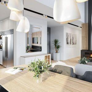 Willa rodzinna to doskonała propozycja dla osób planujących budowę wygodnego i funkcjonalnego parterowego domu. Projekt: arch. Michał Gąsiorowski. Fot. MG Projekt