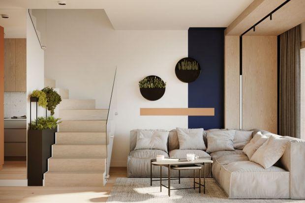 Wnętrza tegoniewielkiego, bo 67-metrowego domu miały być oryginalną i nowoczesną przestrzenią, z widocznym szacunkiem do natury, bliskich przyrodzie materiałów i kolorów.