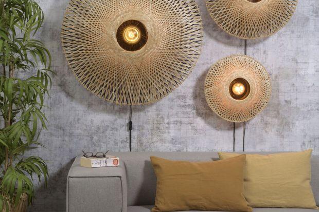 Ręcznie robione lampy z kloszami z bambusa. Piękne oświetlenie!