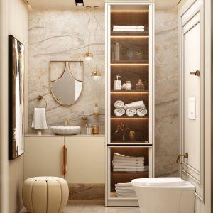 Elegancka jasna łazienka. Projekt i zdjęcia: Covet House