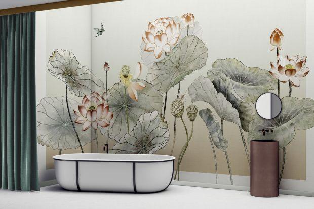 Chcesz by Twoja łazienka zrobiła wrażenie? Postaw na tapetę na jednej ze ścian. Modne wzory zrobią efekt wow!