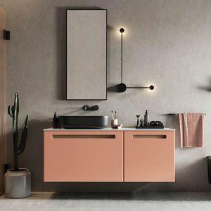 Modułowość kolekcji Senso Defra pozwala na łączenie ze sobą kilku mebli. Możesz w ten sposób uzyskać wąski mebel do małej łazienki, ale także pokaźnej szerokości szafkę z długim, wygodnym blatem roboczym. Fot. Defra