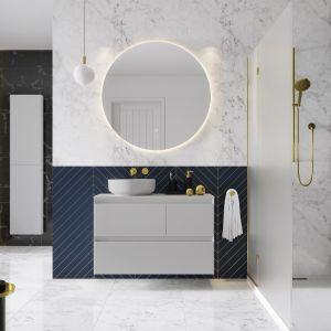 Seria Split marki Elita to zupełnie nowa koncepcja wnętrza, która daje swobodę przechowywania i aranżowania łazienki. Fot. Elita Meble